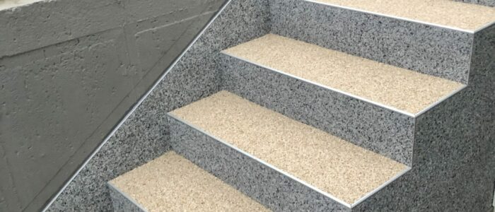 Steinteppich fugenlos Eingangsbereich