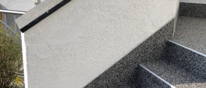 Steinteppich fugenlos Außentreppe